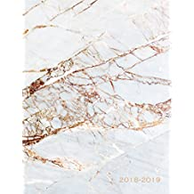 2018-2019: Marble Design | Jul 18 - Dec 19 | 18 Month Mid-Year Weekly View Planner Organizer with Motivational Quotes + To-Do Lists (Weekly View Planners)
