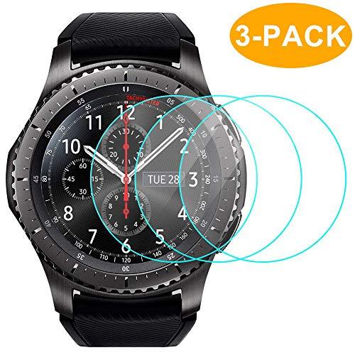 Samsung Gear S3 Pellicola Protettiva (3 Confezioni), CAVN 9H Durezza e Anti-Bolla Scudo Temperato Glass Screen Protector per Samsung Gear S3 / Gear S3 Classic