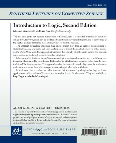 Introduction to Logic: Second Edition (Synthesis Lectures on Computer Science)