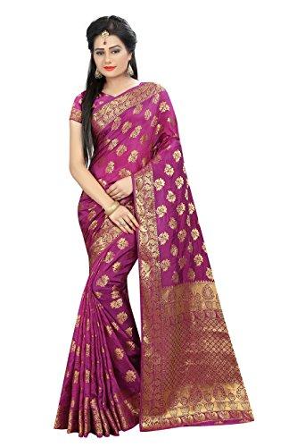 Hinayat Fashion Silk Saree (Nht01Sri468_Pink_Free Size)