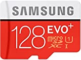 #3: Samsung Evo+ 128GB Micro SD Card with Adapter 95 MB/s Transfer Speed Class 10