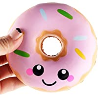 Lovely Donut Squishies Slow Rising Bread Emoji Smile Cream Scented Squeeze Food Toy - Mumustar