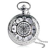 Orologio da tasca antico Kuroshitsuji Black Magic design Pokect orologi per gli uomini casual quarzo Orologio da tasca regalo