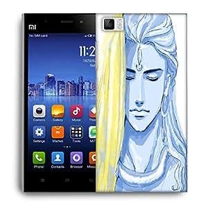 Snoogg Tegaki Shiva 2798 Designer Protective Back Case Cover For Xiaomi Mi 3