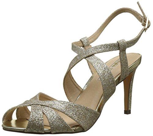 Buffalo Shoes Damen RK 1610-128 Glitter Riemchensandalen, Gold (Gold 01), 39 EU (Damen-gold-sandalen)