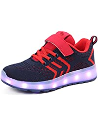 bevoker Kids LED Light Up Sports Shoes Upgraded LED Strip Trainers For Boys Girls