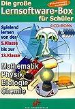 Die große Lernsoftware-Box für Schüler, 4 CD-ROMsMathematik, Physik, Biologie, Chemie. Spielend lernen von der 5. Klasse bis zur 13. Klasse. Für Windows 95 oder höher -