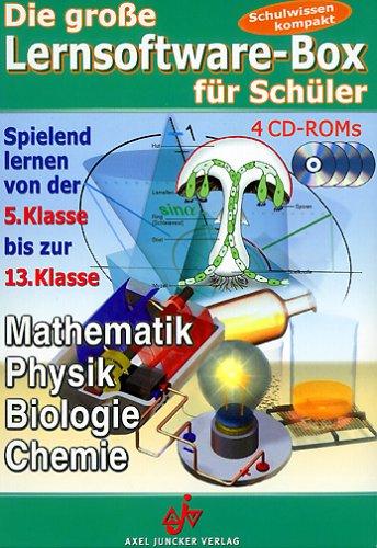 Die große Lernsoftware-Box für Schüler, 4 CD-ROMsMathematik, Physik, Biologie, Chemie. Spielend lernen von der 5. Klasse bis zur 13. Klasse. Für Windows 95 oder höher