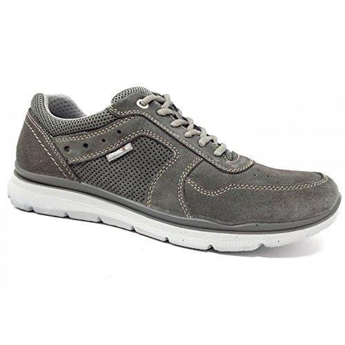 Size45 Enval Asfalto Hombre Zapatos Cordones Eu Para Grigio Gris Soft De OkuXZPi