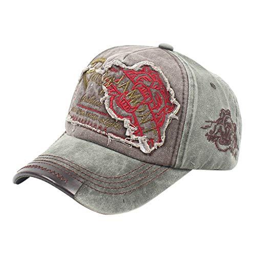 Yvelands Damen Personalisierte Hip-Hop-Baseballmütze Lässige Street Dance Hüte Einstellbar Unisex(Armeegrün)