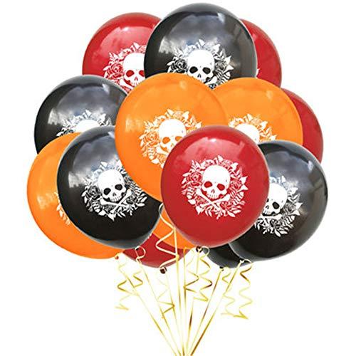 Der Kostüm Festival Toten Tag - YURDCJX 12-Zoll-mexikanischen Tag der Toten Festival Bunte Luftballons Halloween Latex Ballon Dekorationen