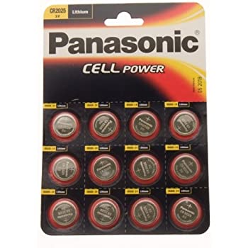 Ukdapper Panasonic Lithium Coin Cells Cr2025 C12 Amazon