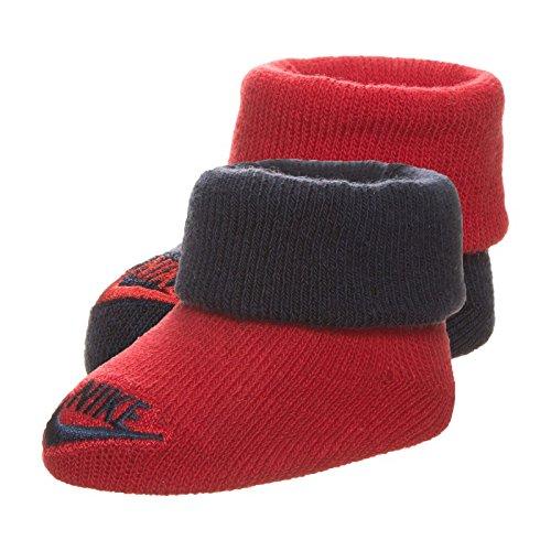 Nike Baby Futura Söckchen, Weiß/rot, 0-6 Monate