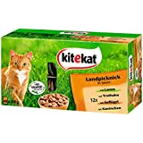 Kitekat Katzenfutter Landpicknick in Sauce, 48 Beutel, 1er Pack (48 x 100 g)