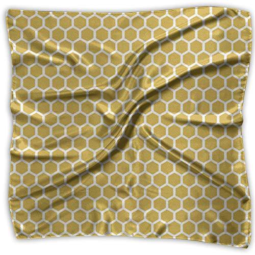 Pizeok Square Satin Scarf Honeycomb Seide wie leichte Bandanas Head Wrap Neck Schal Kopftuch - Honeycomb Seide