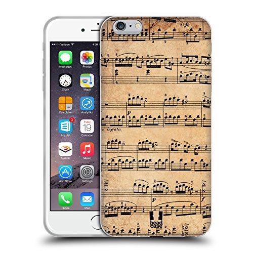 Head Case Designs Mozart Partitions Musicales Étui Coque en Gel molle pour Apple iPhone 6 / 6s Mozart