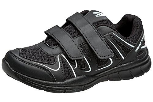gibra Herren Sportschuhe Sneaker, Art. 1137, mit Klettverschluss, Schwarz, Gr. 43