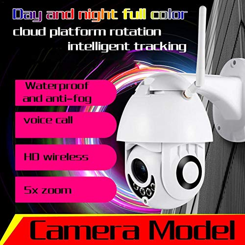 TUANMEIFADONGJI 1080P PTZ Mini WiFi Dome IP-Kamera 5X optischer Zoom Wireless HD 2MP CCTV Onvif IP66 Wasserdichte Audio-TF-Karte 2 Millionen Mini-Ballmaschinen-Bewegungserkennung