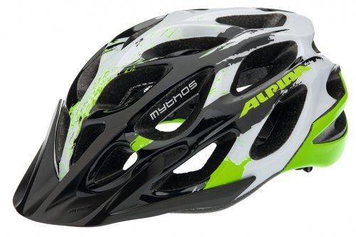 Fahrradhelm Alpina Mythos 2.0 MTB Gr. M (52-57cm) schwarz/weiß/grün 2018325400 by Alpina