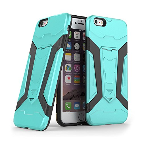 Cover iPhone 6s plus Custodia iPhone 6 plus Hard Anfire Belt Clip Holster Kickstand Case Cover per iPhone 6 plus / 6s plus (5.5 Pollici) Ultra Sottile Liscio Opaco Antiurto Protettivo Bumper Paraurti  Verde