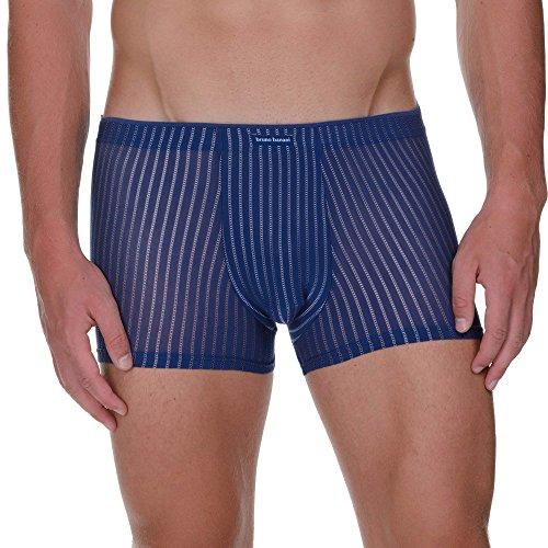 bruno banani Herren Shorts Hipshort Metamorphosis Blau (Saphirblau Stripes 2380)
