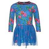 Mim-Pi traumhaftes Kleid mit Tüll - blau pink, Gr.:152