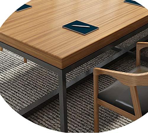 JZX Schreibtisch Aus Schmiedeeisen, Konferenztisch, Langer Tisch, Esstisch, Verhandlungstisch Für Schulungen, Moderner Computertisch,220 * 80 * 75,5...