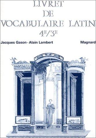 Livret de vocabulaire latin 4e et 3e