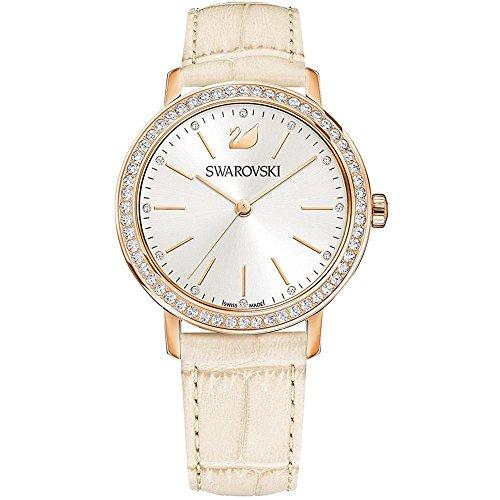 Swarovski Women's Graceful Lady 37mm Beige Leather Band Quartz Watch 5261502