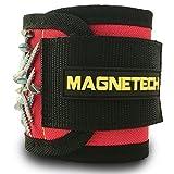 Pulsera magnética, la mejor y más fuerte, de Magnetech, 12potentes imanes para sostener tornillos, tornillos, clavos y herramientas,regalo perfecto de herramienta gadget para proyectos de bricolaje, para carpinteros, electricistas, mecánicos y constructores