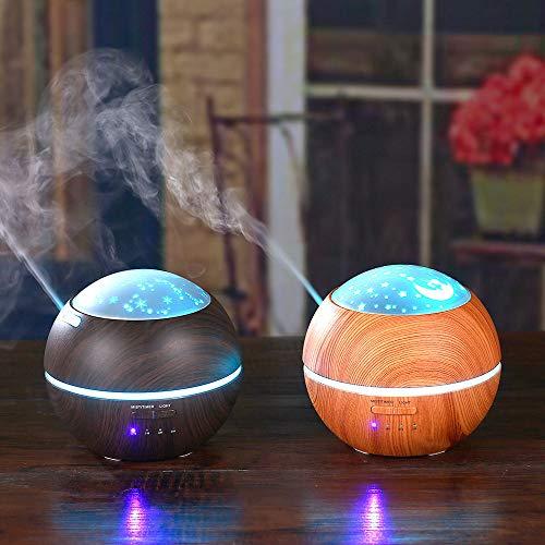 Licht und Schatten Holzmaserung Aromatherapie Maschine Ultraschall Hause Kreative Atmosphäre Nachtlicht Aroma Luftbefeuchter Mini Luftbefeuchter Gruppe Kaufen Zusammen Günstiger