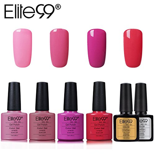 Elite99 Esmalte Semipermanente UV LED 6pcs Kit Uñas