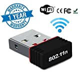 #9: Twogood Mini Wireless Receiver and Transmitter Wifi Adapter 300Mbps, 2.4Ghz, USB 2.0