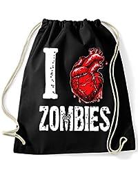 35mm - Mochila / Bolsa - I Love Zombies - Bag/Backpag, NEGRA