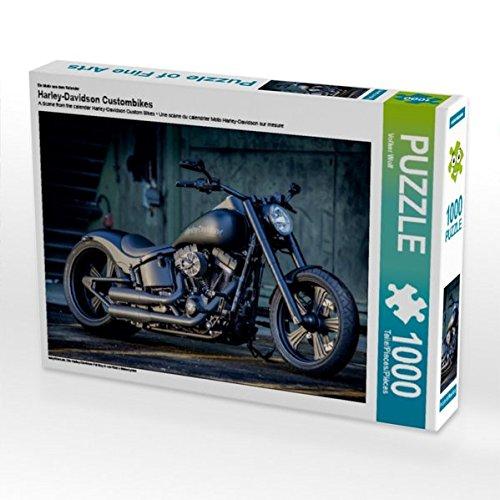 Ein Motiv aus dem Kalender Harley-Davidson Custombikes 1000 Teile Puzzle quer (Teile Street Glide)