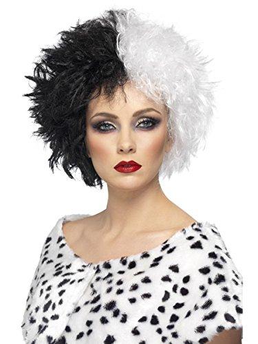 Smiffys Kostüm Zubehör Damen Perücke böse Madame Hexe Vampirin - Böse Madame Kostüm