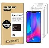 iVoler [4 Stücke] Panzerglas Schutzfolie für Huawei P Smart+ / Huawei P Smart Plus, 9H Härte, Anti- Kratzer, Bläschenfrei, [2.5D R&e Kante]
