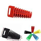 LEAGUE&CO Universal Motorrad Silencer Plug Auspuffstopfen für 4 Takt Auspuff Stopfen Schalldämper Stecker (L, Rot)