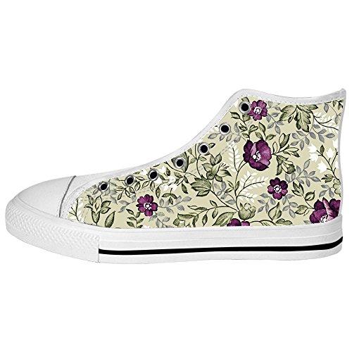 Dalliy Floral Flower Men's Canvas Shoes Lace-up High-top Footwear Sneakers Chaussures de toile Baskets D