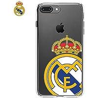 PHONELAND Carcasa Funda iPhone 7 Plus iPhone 8 Plus Licencia Fútbol Real  Madrid Transparente Escudo 36c47be4545f3