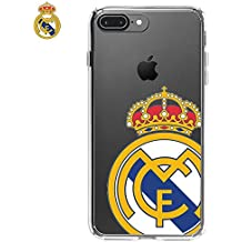 ba5bfd31e14 Cooltech Carcasa Funda para iPhone 7 Plus/iPhone 8 Plus Licencia Fútbol  Real Madrid Transparente