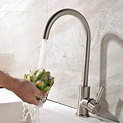 Great Quality at a Great Price Modern Single Lever Brushed Nickle Kitchen Mixer Taps, Kitchen Sink Tap