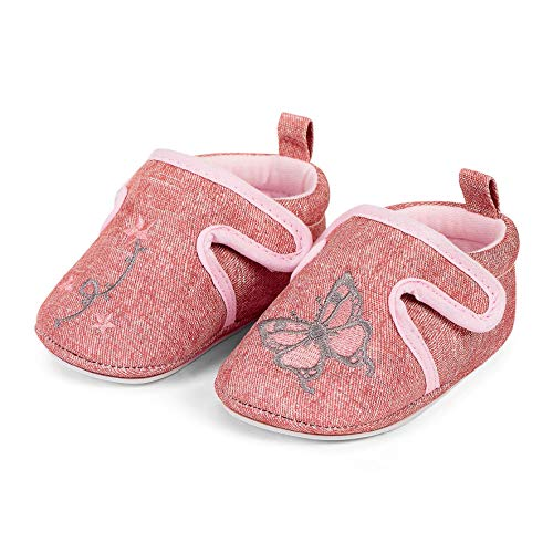 Sterntaler Baby Mädchen Krabbelschuh Slipper, Pink (Rosa 702), 16 EU