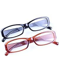 Inlefen 2-Pack Lentes de lectura delgados Retro Vintage gafas para mujer para hombre +