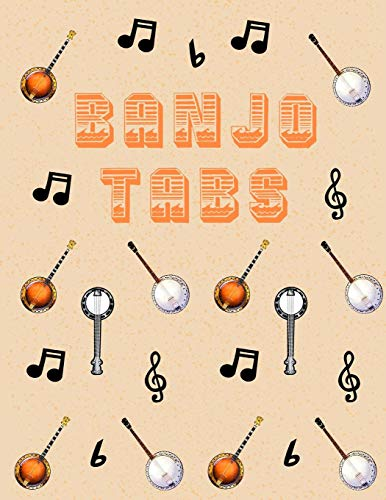 Banjo Tabs: Leere Notenblatt mit Tabulatur für Banjo Lieder und Akkorde   Schreibe deine eigene Banjo Musik auf!   Banjo Notizbuch   Banjo Tabulatur für Anfänger (Elektrische Schwarz Gitarre Einsteiger)