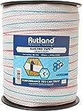 Rutland Nastro Elettrico per recinto Elettrico per Animali [Bianco] - 200 Metri di Lunghezza, 40mm di Diametro