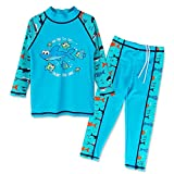HUANQIUE Boys 3-12 Years Two Piece 50+UV Swimsuit Costume