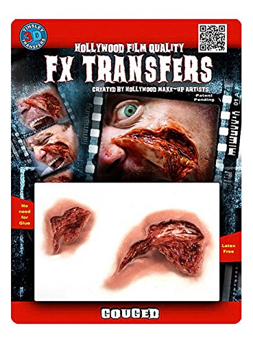 FX Transfers Fleischwunde Make-Up Set für Halloween, Karneval und (Halloween Fx Masken)