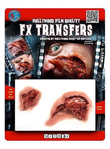 FX Transfers Fleischwunde Make-Up Set für Halloween, Karneval und Kostümpartys