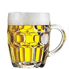 Idea Regalo - Confezione 3 Calici birra con manico 28 cl - ARCOROC Linea Britannia MUG calice birra classico boccale Giarra